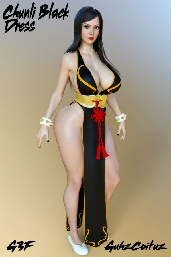 Chun-Li Black Dress for G3F
